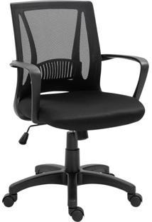 Cadeira De Escritório Secretária Evine Preta