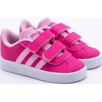 513e09bf287 Paquetá Esportes. Tênis Adidas Infantil Vl Court 2.0 Rosa 19