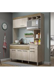 Cozinha Compacta 6 Portas 1 Gaveta Cv6010 Malbec/Wood- Decibal Móveis