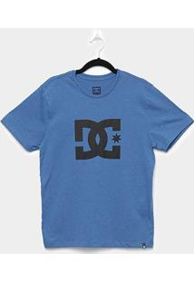 Camiseta Juvenil Dc Shoes Pack Star Manga Curta - Masculino-Azul Escuro