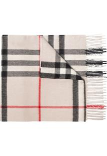 Burberry Cachecol Stone Check De Cashmere - 108 - Multicoloured:Stone Check