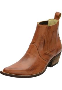 Bota Country Couro Escamado Escrete - 1703 - Whisky