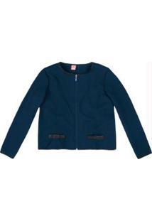 Jaqueta Azul Escuro