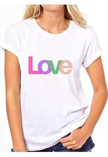 Camiseta Coolest Quadro Pilates Amor Feminina - Feminino-Branco