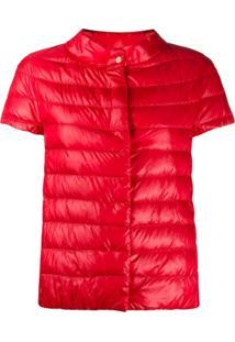 Herno Short-Sleeved Padded Jacket - Vermelho
