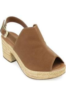 Sandália Ankle Boot Yellow Feminina - Feminino-Marrom