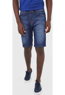 Bermuda Jeans Lacoste Reta Estonada Azul - Kanui