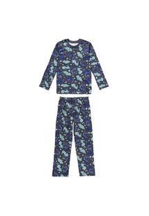 Pijama Juvenil Inverno Dinos Malwee Kids