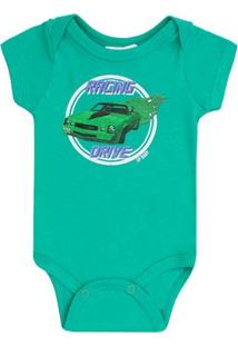 Body Masculino Up Baby Carro Verde - Masculino-Verde