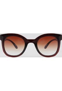 Óculos De Sol Quadrado Feminino Oneself Marrom - Único