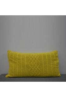 Capa Almofada Tricot 60X40Cm CzãPer Sofa Trico Cod 1026.3 Amarelo - Amarelo - Feminino - Dafiti