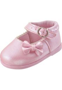 Sapatinho Infantil Pekenos Mimos 102 - Feminino-Rosa