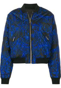 Versace Jeans Couture Jaqueta Bomber Com Estampa Barroca - Azul