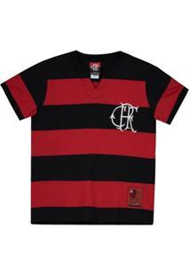 Camisa Flamengo Flatri Crf Infantil Masculina - Masculino-Vermelho