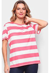 Camiseta Lança Perfume Básica Listrada Feminina - Feminino