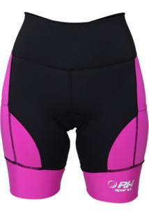 Bermuda De Corrida Rh X3 Compressão Preta/Pink