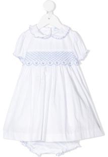 Siola Vestido Com Detalhe Bordado - Branco