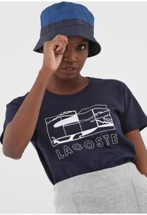 Camiseta Lacoste Logo Azul-Marinho - Kanui