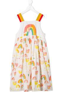 Stella Mccartney Kids Vestido Com Estampa Arco-Íris - Branco