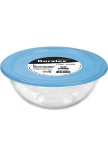 Tigela Com Tampa Plástica Azul 0,5 L