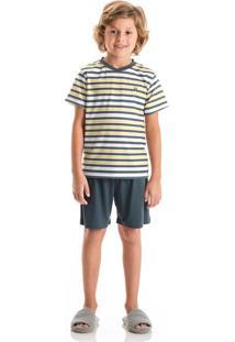 Pijama Marcelo Curto Infantil Amarelo/04