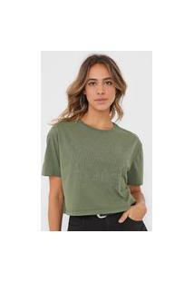 Camiseta Colcci Aplicação Verde