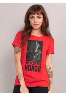 Camiseta Bandup For Honor Type Cavaleiro - Feminino-Vermelho