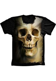 Camiseta Baby Look Lu Geek Skull Caveira Preto