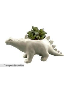 Cachepot Dinossauro- Branco- 12X27X10,5Cm- Urbanurban