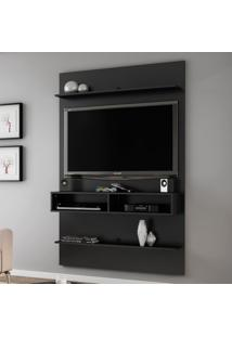 Painel Para Tv Até 47 Polegadas 5 Prateleiras Vega 2075021 Preto Fosco - Bechara Móveis