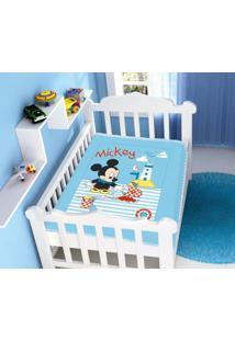 Cobertor Disney Mickey Praia Barquinho Azul Jolitex