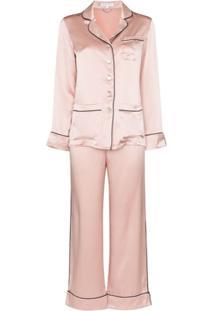 Olivia Von Halle Pijama 2 Peças Coco - Rosa