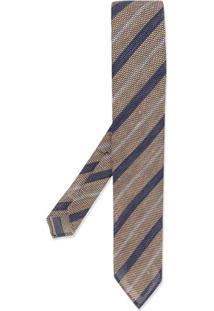 Lardini Gravata Com Listras Diagonais - Azul