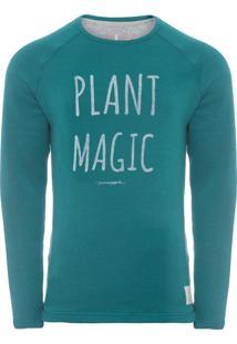 Casaco Masculino Raglan Plant Magic - Verde