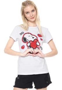 Camiseta Snoopy Xoxo Branca