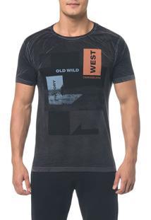 Camiseta Ckj Mc Estampada Old Wild - Preto - Pp