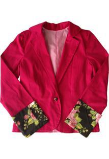 Casaco Liminha Doce Floral Rosa - Tricae