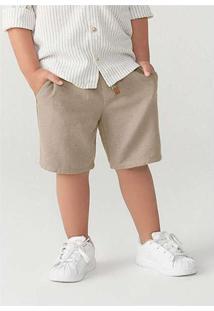 Bermuda Infantil Menino Chino Toddler Marrom