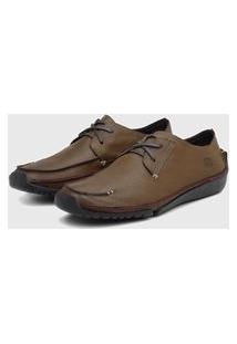 Sapato Em Couro Hayabusa Duna 10 Tan Bege