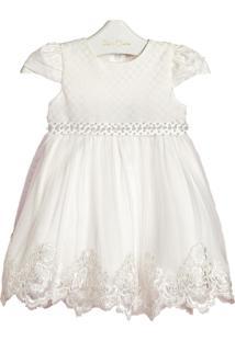 Vestido Mc Bordado Off White Petit Cherie G Off-White