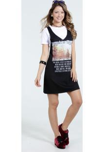 Vestido Feminino Slip Dress Estampa Show Marisa