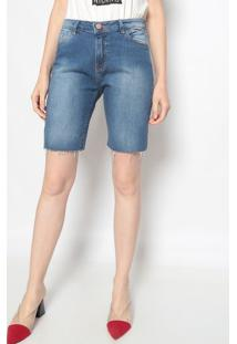 Bermuda Jeans Estonada - Azul - Mobmob