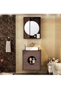 Conjunto Para Banheiro Florença I Ameixa Negra E Gris Montano