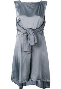Maison Margiela Vestido Com Detalhe De Amarração - Grey
