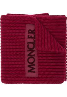 Moncler Cachecol De Lã - Vermelho