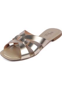Rasteirinha Trivalle Shoes Ouro Light