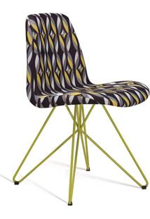 Cadeira De Jantar Eames Butterfly Amarelo E Preto