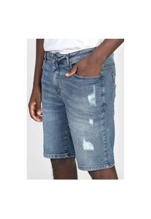 Bermuda Jeans Colcci Slim Noah Azul