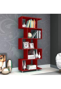 Estante Para Livros Esm 209 Vermelho - Móvel Bento