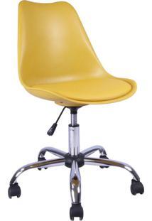 Cadeira De Escritório Secretária Giratória Eames Amarela